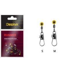 Delphin Runner Feeder Beads with Snap