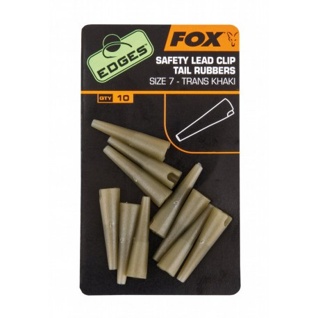 Nasadki Fox Edges Safety Lead Clip Tail Rubbers